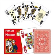 Modiano Poker Cristallo Rød, Jumbo