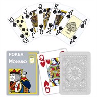 Modiano Poker Cristallo Grå, Jumbo
