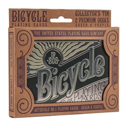 Bicycle Retro Tin Box Collector