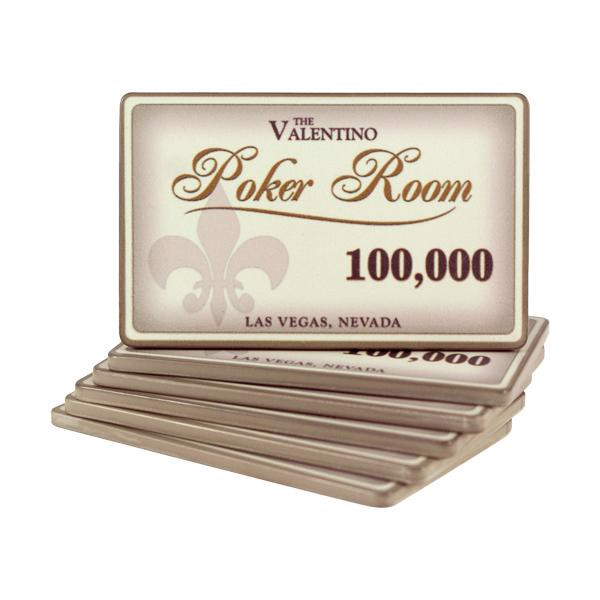 Valentino Poker Room Plaque 100000