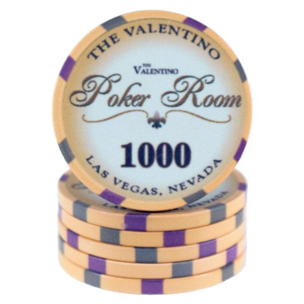Valentino Poker Room Gul 1000