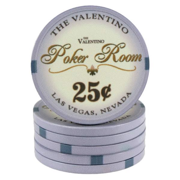 Valentino Poker Room Grå 25 cent