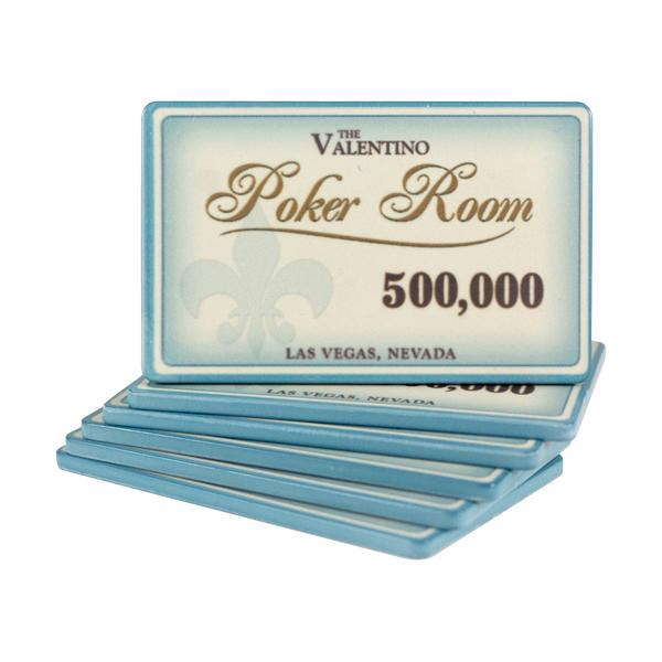 Valentino Poker Room Plaque 500000
