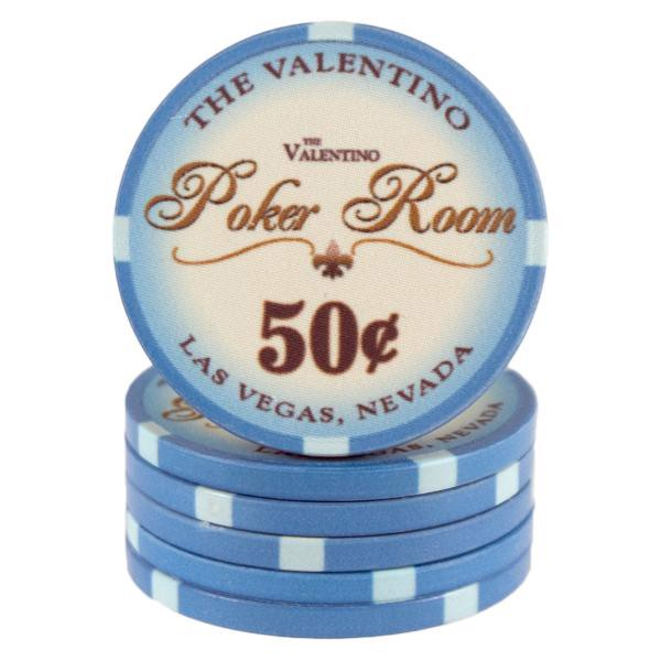 Valentino Poker Room Lyseblå 50 cent